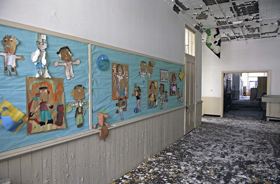 The oldest section of the Carver Elementary, the old Moore Street School, is unused except by rodents. - SCOTT ELMQUIST