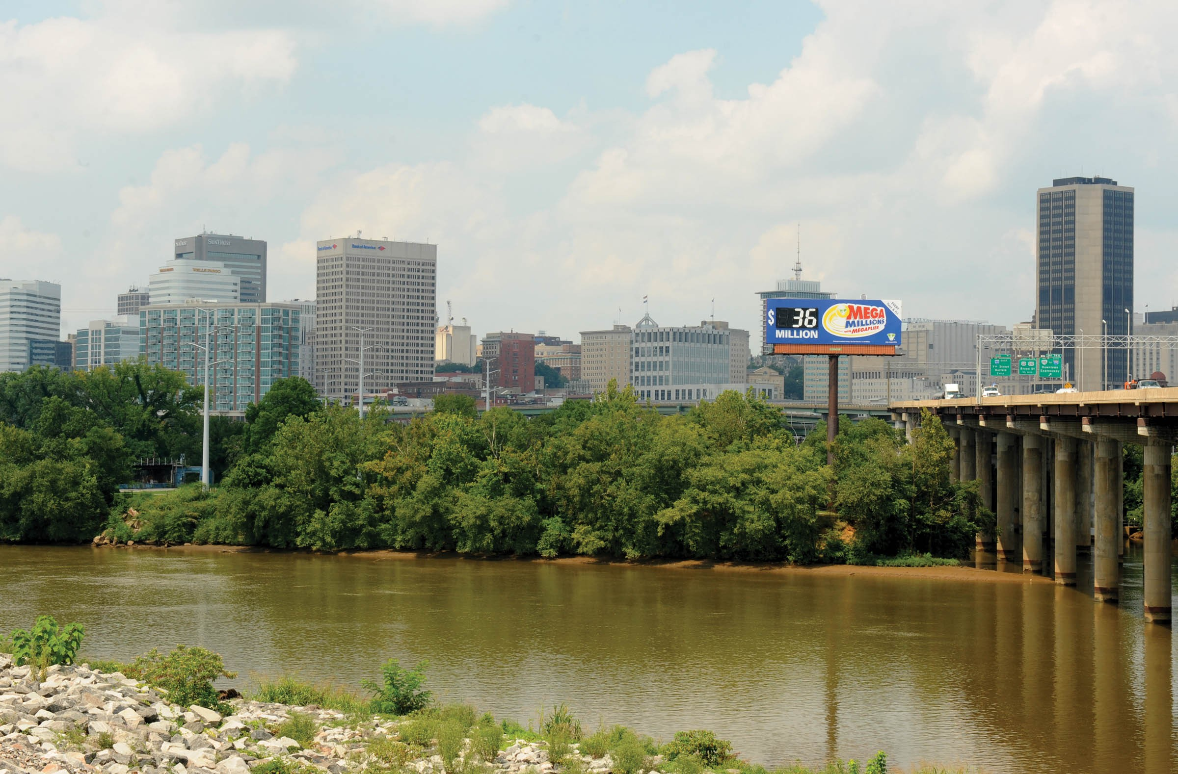 The organizers of an upcoming country music festival on Mayo Island were drawn to its views of downtown Richmond. - SCOTT ELMQUIST