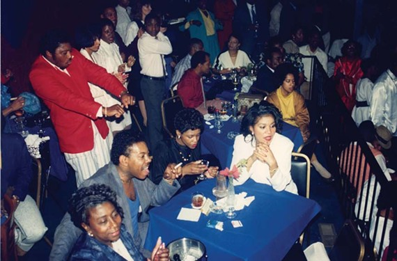 The owner of former club Ivory's, Steve Branch, sits with his mother and friends during its '80s heyday.