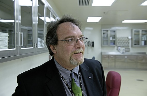 The program's operational director, Rick Sikon, says he's always been captivated by the human body. He's helped refine the new embalming method. - SCOTT ELMQUIST