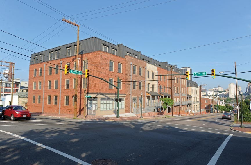 The recently completed 2001 East Apartments on Broad Street contain retail spaces at street level and apartments on the upper floors. - SCOTT ELMQUIST