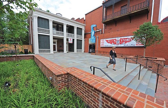 The reconfigured entry plaza provides a multi-use space at the Valentine Richmond History Center. - SCOTT ELMQUIST