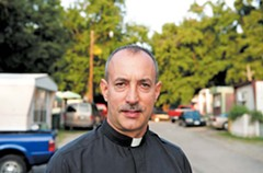 """The Rev. Shay Auerbach, pastor of Sacred Heart Catholic Church, has spent the last four years getting to know the Mixtecos. """"They're a world unto themselves,"""" he says. - SCOTT ELMQUIST"""