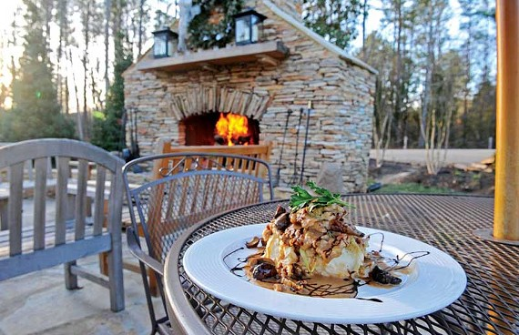The rosemary chicken with pancetta, mushrooms and shallots is a winner at the River Road hot spot Portico. - SCOTT ELMQUIST