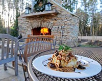 The rosemary chicken with pancetta, mushrooms and shallots is a winner at the River Road hot spot Portico.