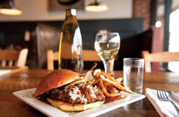 The Sloppy Joseph comes with parmesan truffle fries at Toast, in the former City Limit space in the Village Shopping Center on Three Chopt Road. - SCOTT ELMQUIST