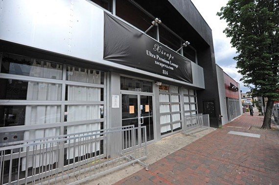 The state tax department shut down Xscape Ultra Premium Lounge on West Grace Street in early May for unpaid taxes. - SCOTT ELMQUIST