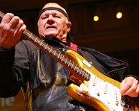 The sweatband-wearing septuagenarian proves he's still a guitar god at Capital Alehouse on Aug. 1.