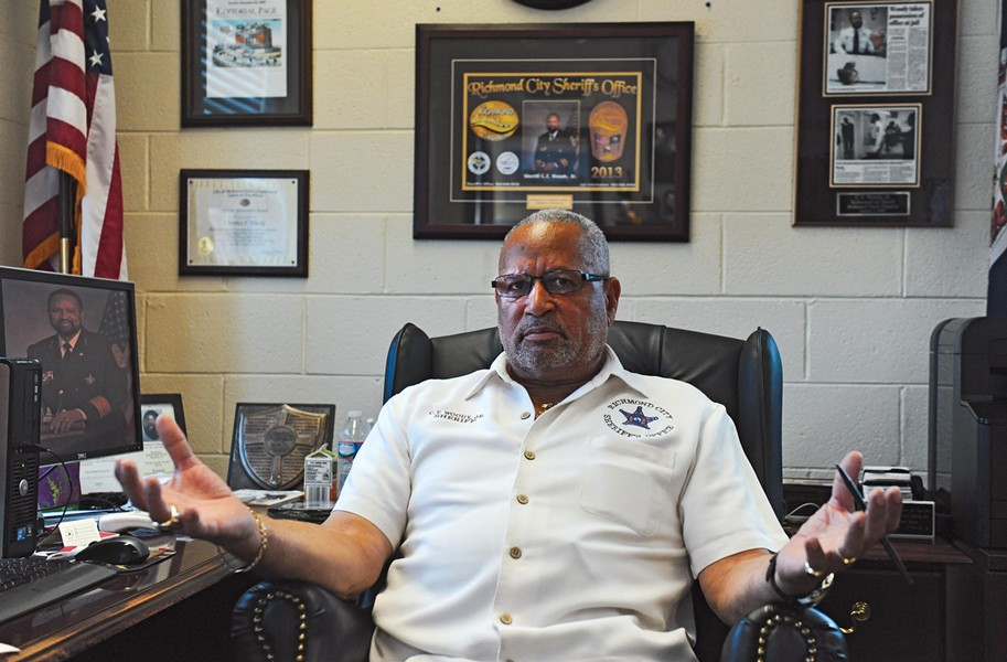 The tenure of Richmond Sheriff C.T. Woody, who was first elected in 2005, hasn't been all sunshine, but his three challengers have relatively tiny war chests and tough competition. - SCOTT ELMQUIST