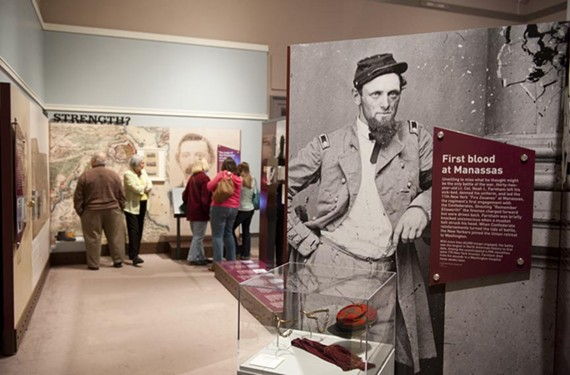 "The Virginia Historical Society's new Civil War exhibit set attendance records on its opening weekend. ""We let the people of the times speak for themselves,"" says society President Paul A. Levengood."