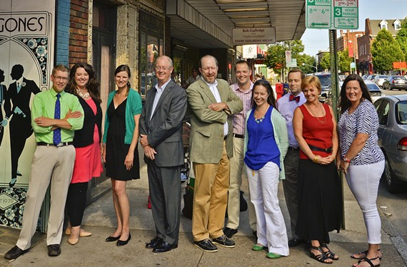 "The volunteer board of the Byrd Theatre Foundation today announces its fundraising goal necessary for a complete restoration — yes, including the seats — of the historic landmark by 2017. The board, which recently expanded to 12, includes: Grant Mizell, Colleen Flynn, Jaclyn H. Witthoefft, Richard Cross, board president Gibson Worsham, James Loving, Melissa L. Savenko, Edward ""Ted"" K. Haynes, Paula V. Rhodes and Becky Dixon. Not pictured are Diane M. Carrone and David Martin. - ASH DANIEL"