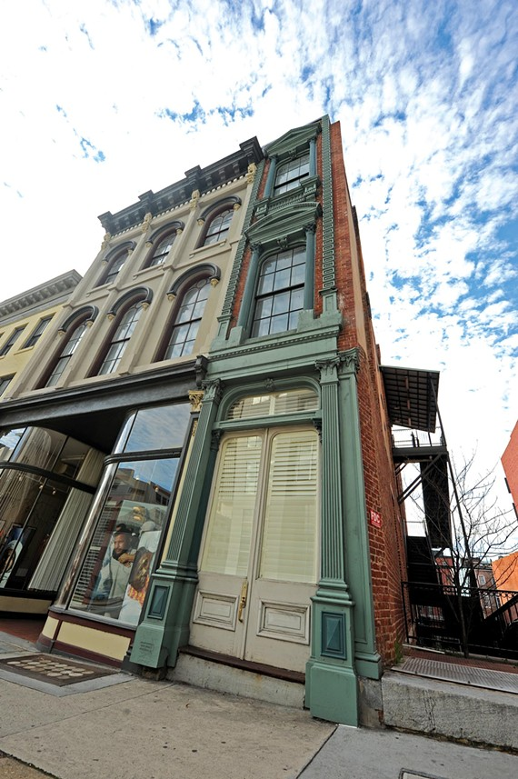 The Wedge at 1321 1/2 E. Main, downtown's narrowest building, has been restored by the Council for America's First Freedom.