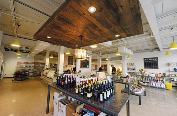 The Yellow Umbrella has larger quarters, heritage meats, more prepared foods and pantry items, and wine and cheese from partnering business Cellar to Table. - SCOTT ELMQUIST
