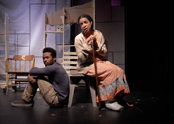 """TheatreLAB's visceral stage drama, """"When Last We Flew,"""" puts a new spin on the kinds of issues faced by teens like Paul (Marquis Hazelwood) and the people who love them, like his mom, Marian (Katrinah Carol Lewis)."""