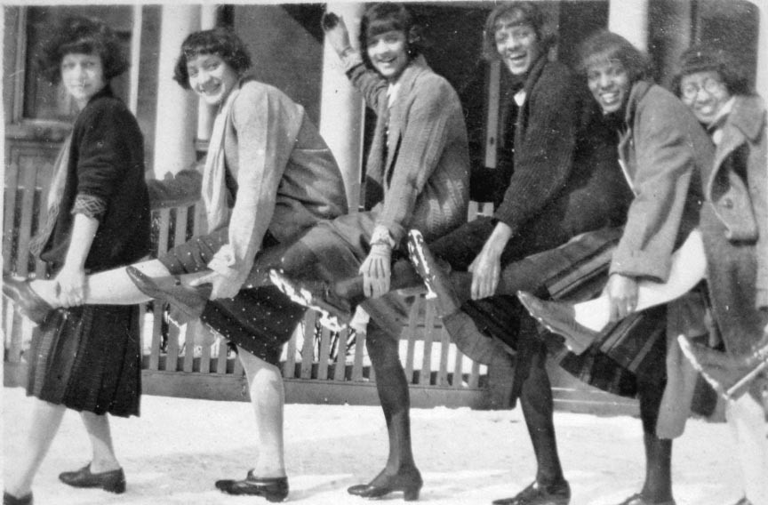 These unidentified flappers strike a happy pose for Stilson, who augmented his income by selling prints and postcards of his images whenever possible. - COPYRIGHT RICHMOND IN SIGHT