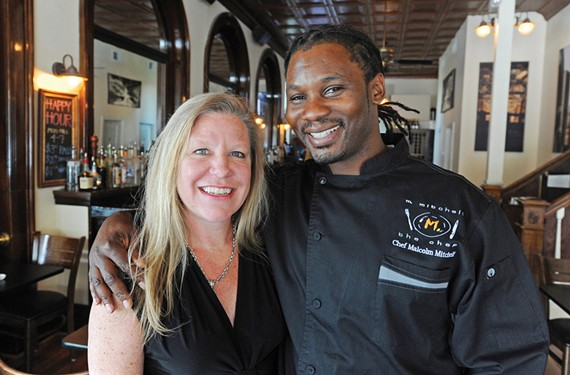 Things are changing at Mint, now becoming a gastropub with chef and Food Network competitor Malcolm Mitchell, shown here with Mint owner Amy Ayers. - SCOTT ELMQUIST