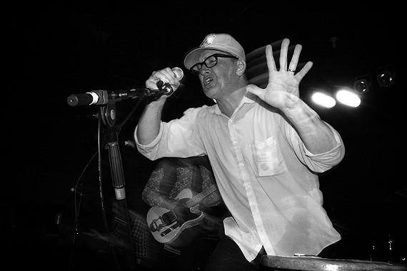 """This image, similar to the one used for the cover of """"Live at XX Merge"""" was taken by local photographer P.J. Sykes during a memorable Lambchop show five years ago in Chapel Hill, NC."""