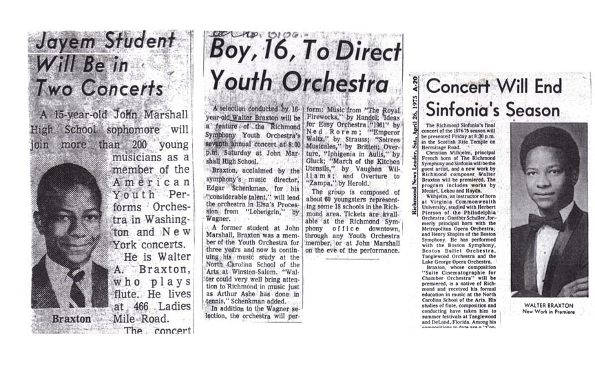 Throughout the 1960s and '70s, Walter Braxton established himself as one of Richmond's most promising young musicians and composers. - CLIPS COURTESY OF THE RICHMOND PUBLIC LIBRARY.