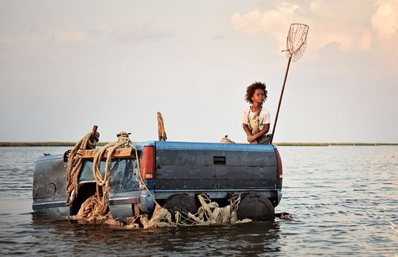 Tiny Quvenzhané Wallis delivers a compelling, if confounding, performance as 6-year-old refugee Hushpuppy. - JESS PINKHAM