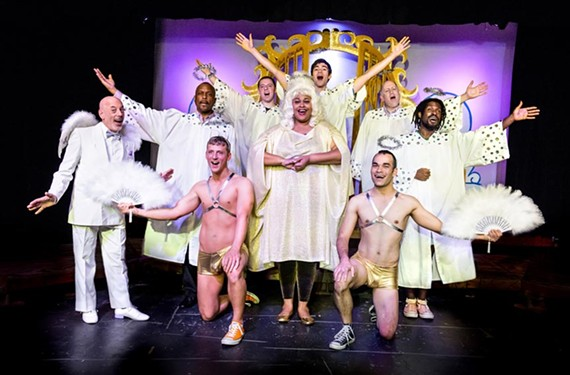 """Tired of the same old heterosexual holiday offerings? Then check out Angela (Karla Brown, center) and her choir in the Richmond Triangle Players' campy production of """"It's a Fabulous Life,"""" playing through Dec. 14."""