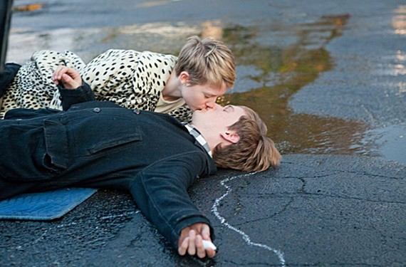"Topic of Cancer: Mia Wasikowska and Henry Hopper in ""Restless."" - SCOTT GREEN"