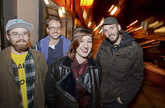 Toxic Moxie members are Justin Shear, Danny Crawford, Sera Stavroula and Mitch Kordella.