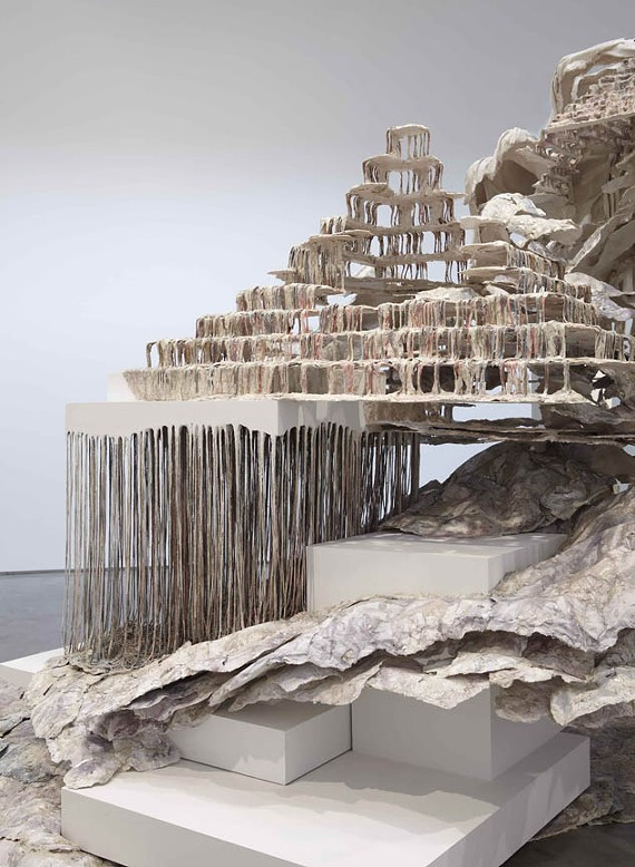 """""""Trace of a Fictional Third,"""" a massive sculpture by Syrian-American artist Diana Al-Hadid, is now on display at the VMFA."""