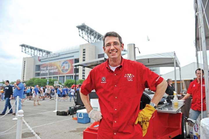 Tuffy Stone didn't catch the Rams games but was close enough to send the smoky smells of Richmond barbecue their way at Reliant Stadium in Houston earlier this month. Stone makes an appearance on a different CBS competition show next month. - SCOTT ELMQUIST