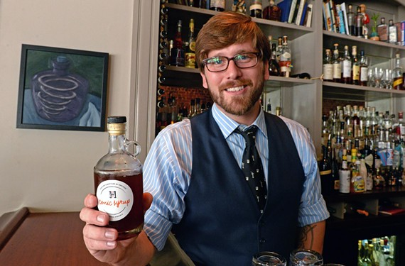 Mattias Hägglund makes his own tonic at Heritage — and you can take a bottle of his syrup home. - SCOTT ELMQUIST