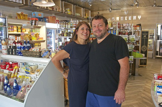 Katrina and Johnny Giavos started their local restaurant empire 25 years ago with the Sidewalk Café. - SCOTT ELMQUIST