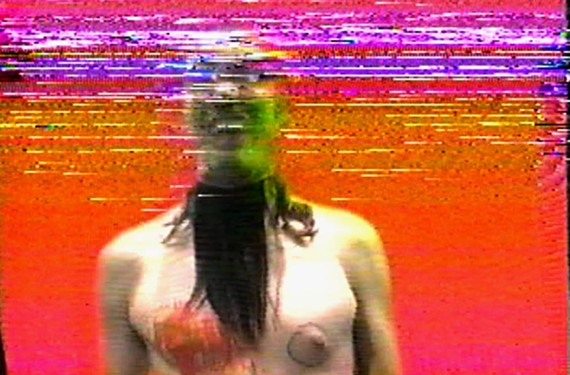 """Jimmy Joe Roche, co-founder of the Baltimore arts collective Wham City, is known through collaborations with electronic-techno musician Dan Deacon. This still is from his video work """"Basement Bleeds."""" Deacon is performing a free DJ set on First Friday as part of opening night."""