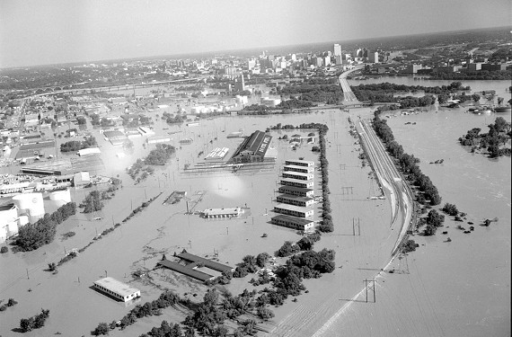 I-95 underwater on Richmond's South Side. - THE LIBRARY OF VIRGINIA