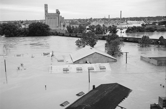 More flooded rooftops in Manchester. - THE LIBRARY OF VIRGINIA