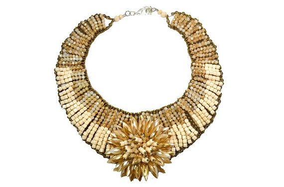 Valerie Sanson's Ivory Coast Sunflower Collar ($230) from the VMFA gift shop.