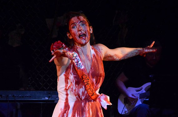 "Brittany D. Simmons in ""Carrie the Musical."" - ERIC DOBBS"
