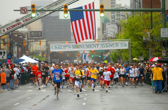 The Ukrop's Monument Avenue 10K, organized by Sports Backers, attracts thousands of runners and revelers each spring. - SCOTT ELMQUIST