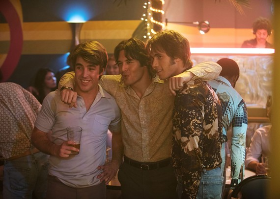 """Temple Baker plays Plummer, Ryan Guzman plays Roper and Blake Jenner plays Jake in director Richard Linklater's paean to his college baseball days, """"Everybody Wants Some!!!"""" now playing at Bow Tie Movieland."""