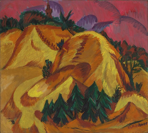 Ernst Ludwig Kirchner (German 1880-1938) Sand Hills in Grünau, circa 1912. Oil on canvas, 333⁄4 x 371⁄2 in. Arthur and Margaret Glasgow Endowment, and gift of Eva Fischer Marx, Thomas Marx, and Dr. George and Mrs. Marylou Fischer © Virginia Museum of Fine Arts