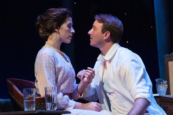 Carolyn Demanelis as Alma and Alexander Sapp as Dr. John Buchanan Jr. - AARON SUTTEN.