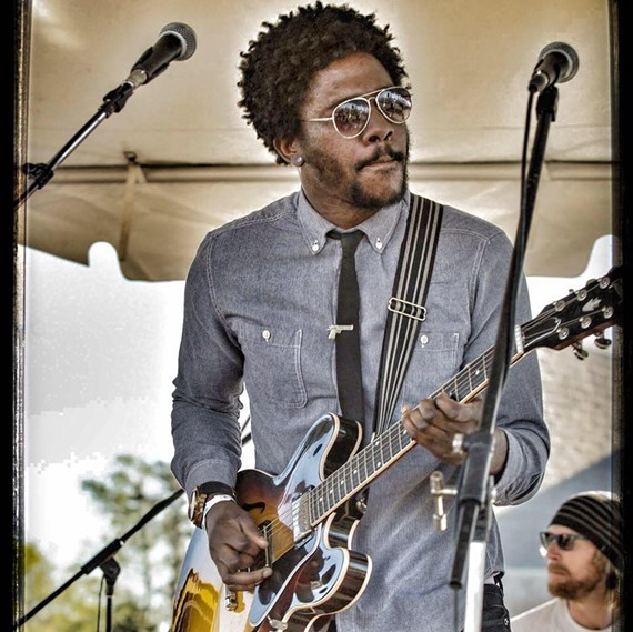 Talented RVA-guitarist DJ Williams is known for his major role in Karl Denson's Tiny Universe, as well as his popular, long-running local band, DJ Williams Projekt. - ED ELLINGTON