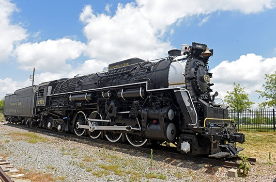 The restored Chesapeake & Ohio steam engine 2732 is on display at the Science Museum of Virginia. - SCOTT ELMQUIST