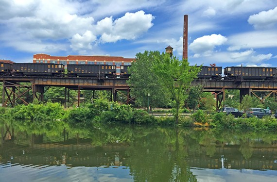 As many as 50 freight trains and 18 passenger trains pass through Richmond every day, becoming as much a part of the landscape as the James River, bridges and the downtown skyline. - SCOTT ELMQUIST