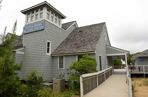 Named after the man who drummed up so much interest in the area, the Aycock Brown Welcome Center is at Milepost 1 in Kitty Hawk. Tourism also has brought heavy development and traffic, including along Southern Shores. Brown reportedly worried about how much attention he'd brought to the Outer Banks. - SCOTT ELMQUIST