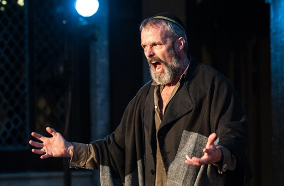Matthew Radford Davies as Shylock in Quill Theatre's production.