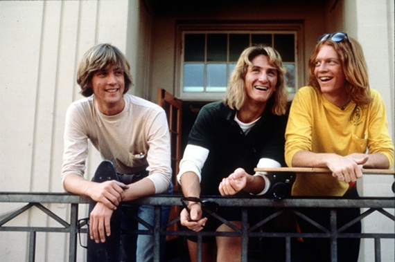"A group of three amateur surfers must learn American history in order to party at the prom from the action blockbuster, ""Fast Times at Ridgemont High."""