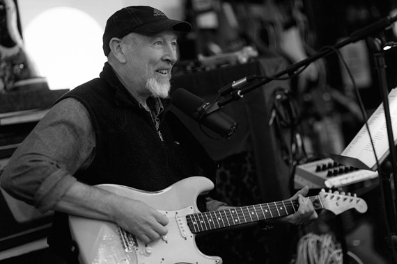 A publicity image of British singer and songwriter, Richard Thompson, who played a near two-hour solo acoustic show at the University of Richmond.