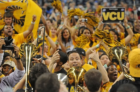 Ryan Kopacsi led VCU's wildly popular pep band, the Peppas, for 18 years. - SCOTT ELMQUIST