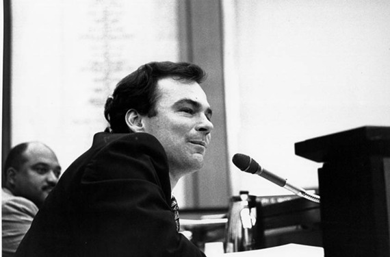 Local politics helped him in the national campaign, says Kaine, pictured in 1997 during his term on Richmond City Council. - STEPHEN SALPUKAS