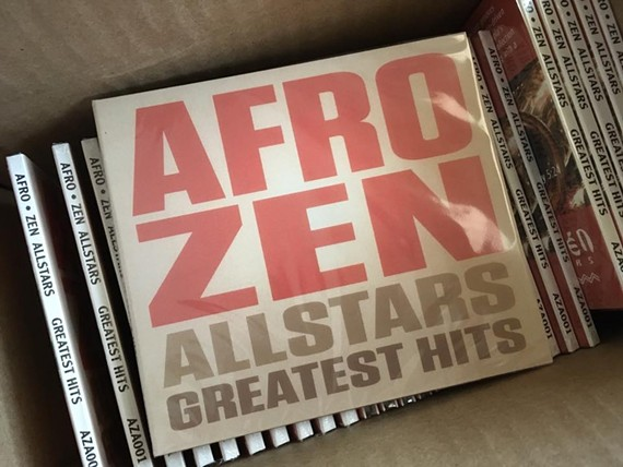 "Locals Afro-Zen Allstars are celebrating the release of their debut CD, ""Greatest Hits"" with several local shows."