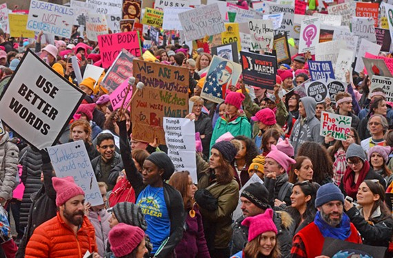 The rally shut down city blocks, brought traffic to a standstill and attracted a diverse array of protesters for various progressive causes. - SCOTT ELMQUIST